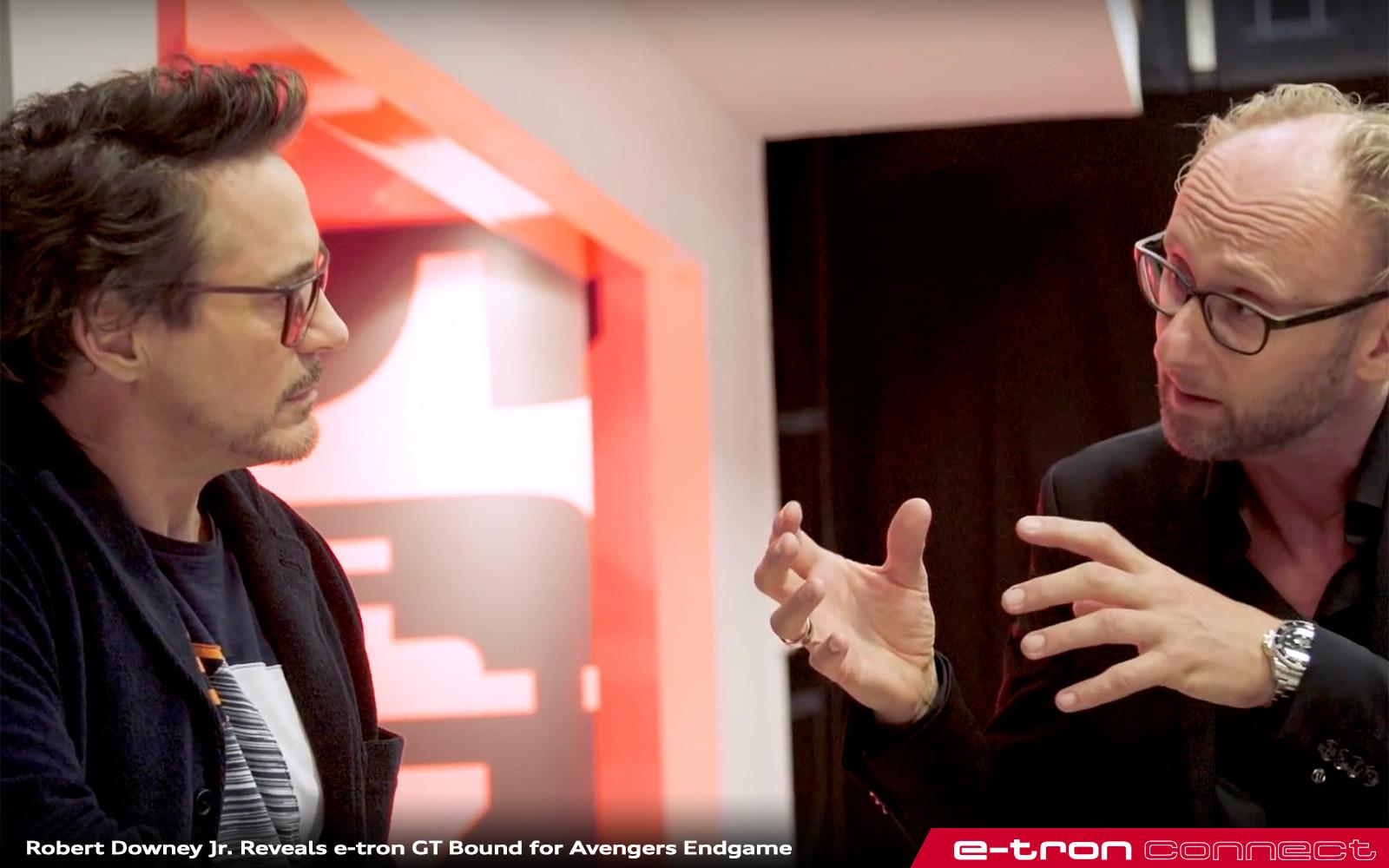 Robert Downey Jr Avengers Endgame Audi 432 E Tron Connect