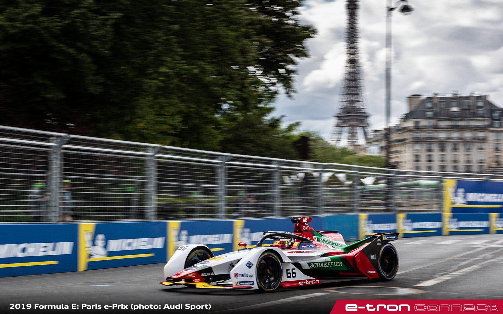 Two Audi Sport FE05 Drivers On Podium At Formula E Paris