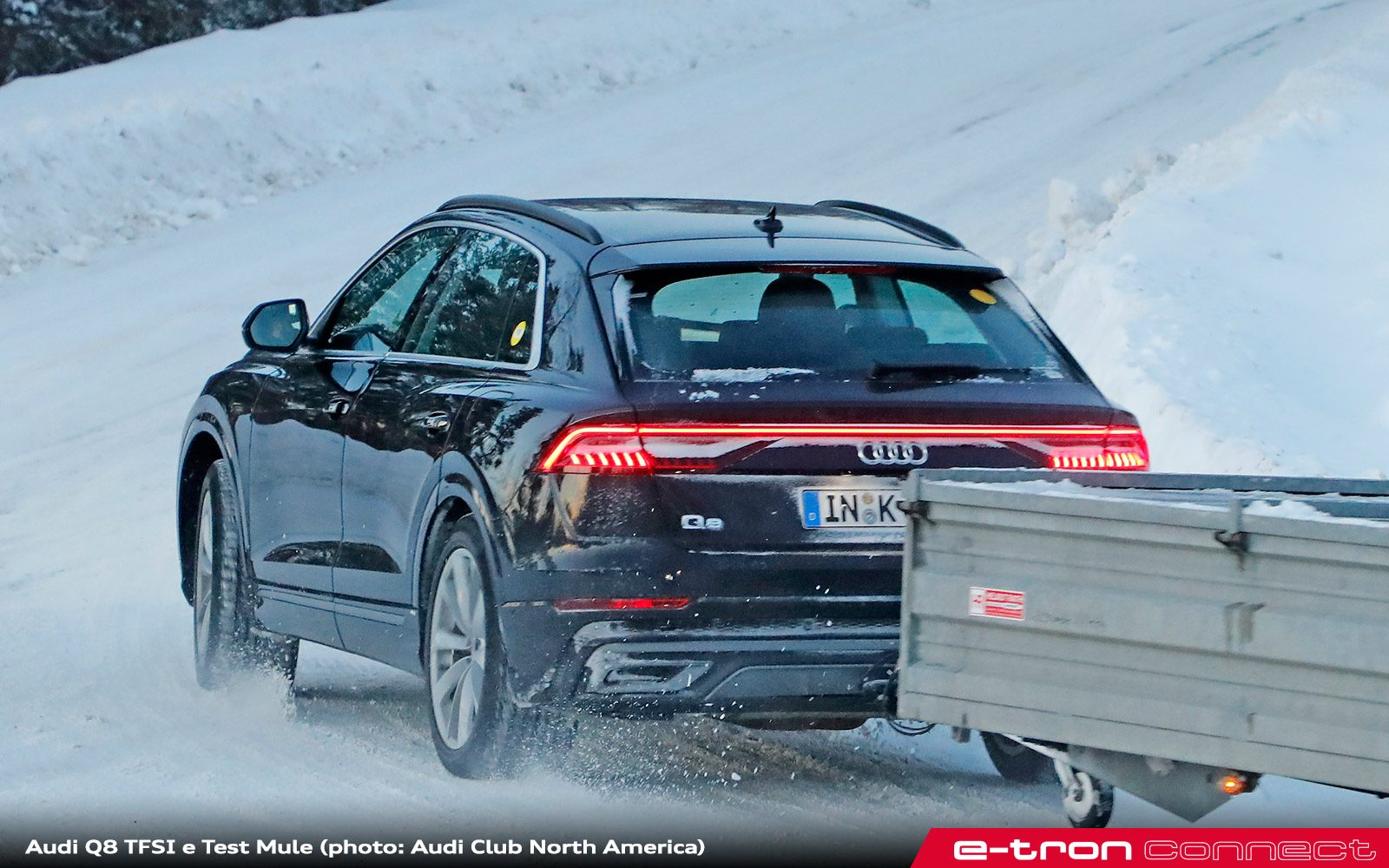 Plug In Hybrid Audi Q8 Test Mule Spied E Tron Connect
