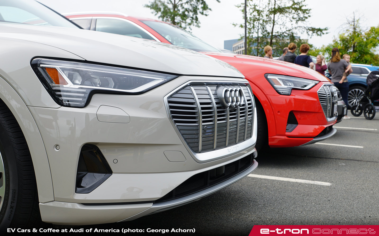 Audi Holds Ev Cars Coffee At Virginia Headquarters E Tron Connect