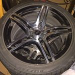 Winter Tire / Wheel Set - Bridgestone Blizzak 245/40R18 on Voxx Wheels