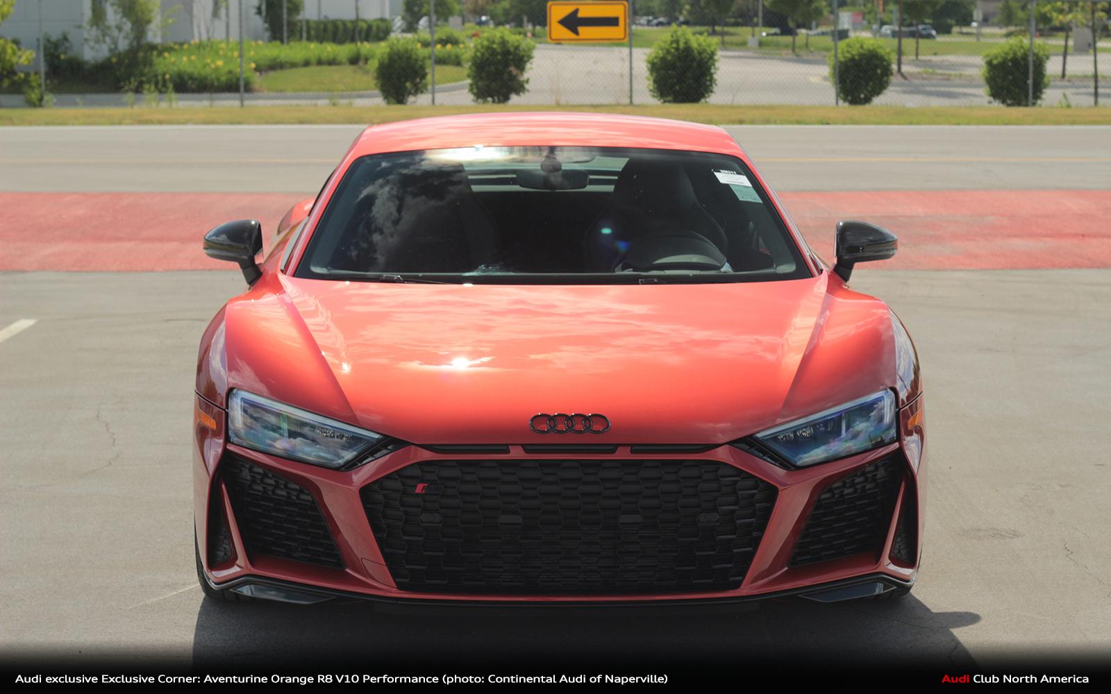 Audi Exclusive Exclusive Corner Aventurine Orange R8 V10 Performance 4 Audi Club North America