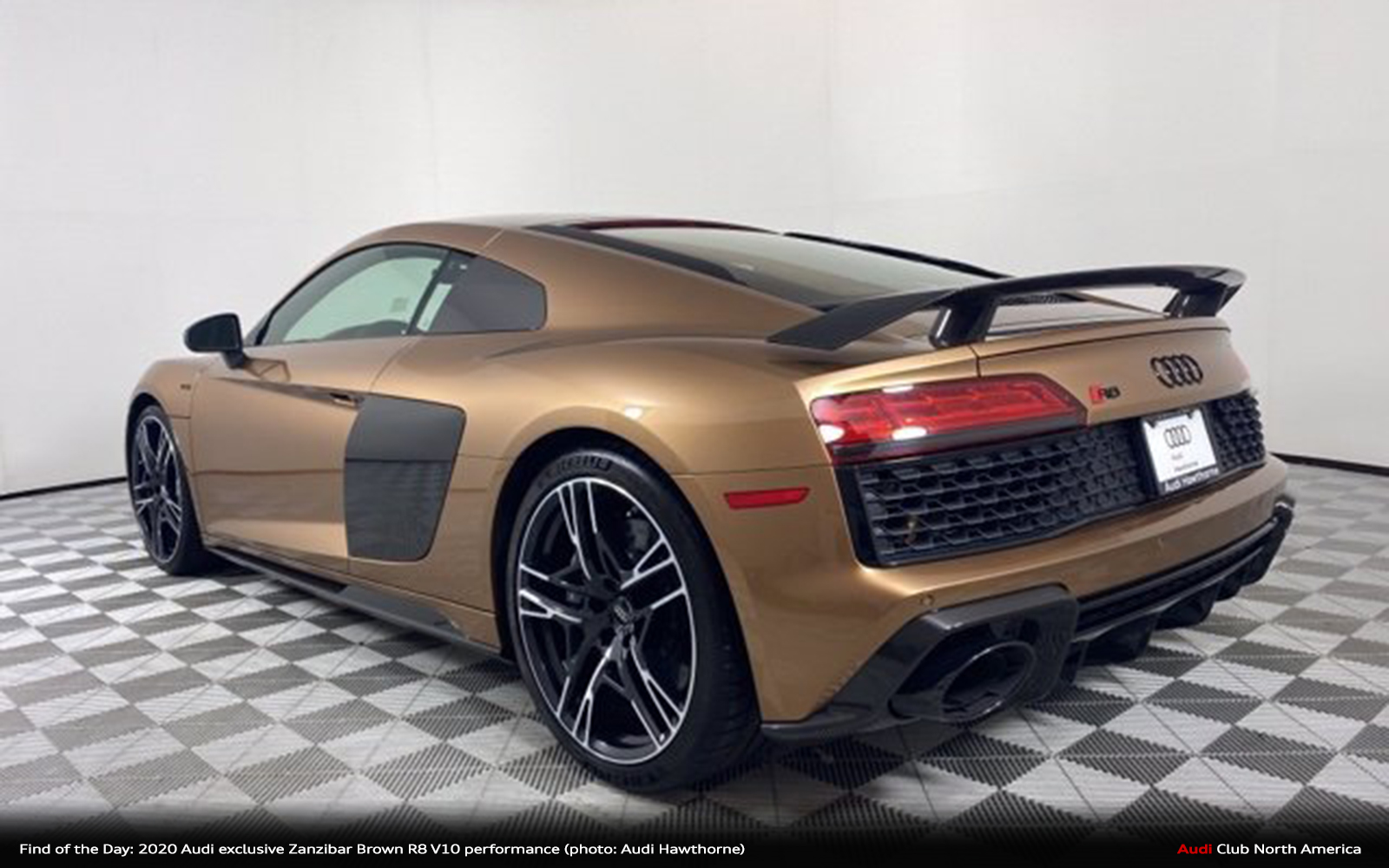 Find Of The Day 2020 Audi Exclusive Zanzibar Brown R8 V10 Performance Audi Club North America